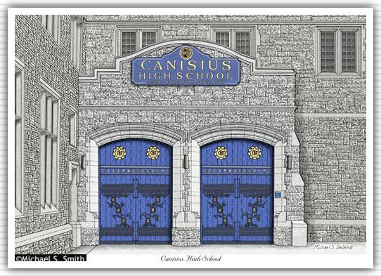 Canisius High School Doors  sc 1 st  Michael S. Smith Graphics : school doors - pezcame.com